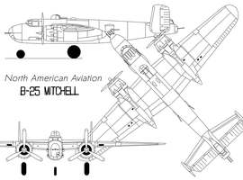 B25-h Mitchell by Pasteljam