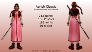 MMD Aerith Classic DL by 0-0-Alice-0-0