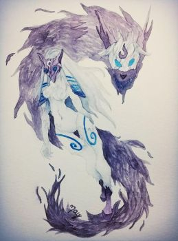 Kindred / League of Legend by Maylise-art