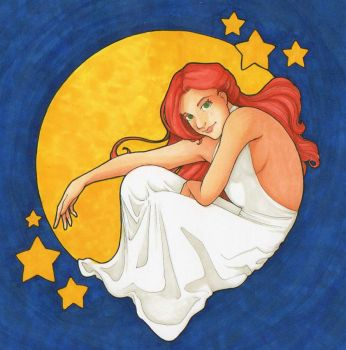 Diana and the Moon by Jellyfish-Station