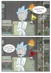 Gravity Fall Rick and Morty crossover by Kaylee-Michele