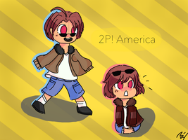 APH 2P! Kid! America and 2p! Kid! Nyo! America by united-drawer