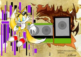 DJ Tails coloured by Adam-Clowery