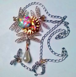 Dragonfly Astral Necklace_Silver Tone by Eli-ArsNexus