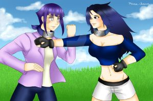Commission: Friendly sparring by manu-chann