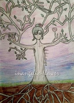 Tree Nymph by inangelic-flower