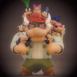 A Koopa Family Photo by SmashingRenders
