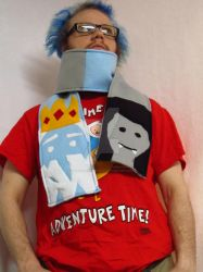 Ice King/Simon and Marceline/Marcy scarf by LetsAllBeNuerotic