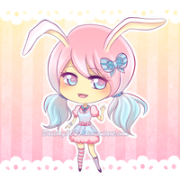 Cotton Candy Bunny [CLOSED Adoptable] by Inspired-Destiny