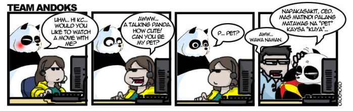 Team Andoks - Panda Flirt by yodacomics