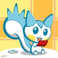 Pachipachi playing the 3DS by CRAZ1