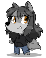 Day 27 - Chibi Wolf Star by SilviShinyStar