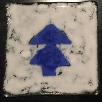 Gravity Falls dippers hat Glass tiles by montrain101