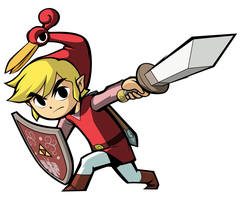 Minish Cap Link - Red by lainsnavi
