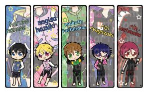 Free! Iwatobi Swim Club Bookmarks by keicea