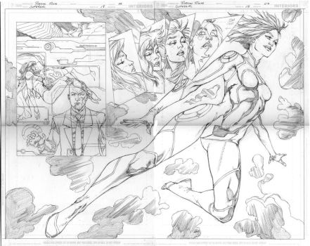 Supergirl 18 pages 06 and 07 by robsonrocha