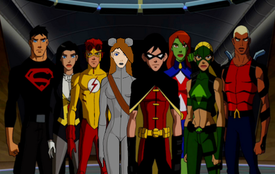 MouseNinja (oc) and the Young Justice by mouseninja3
