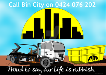 Bin City Poster final signed by CynCinzia