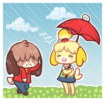 did you forget your raincoat again by lullabun
