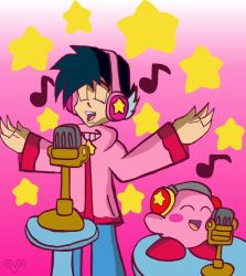 Prozzak x Kirby: Duet with a Pink Puff Ball by VickyJ