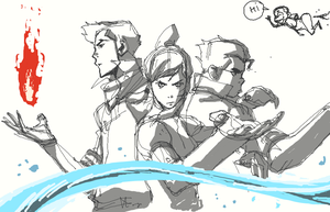 just korra doodle... by blacksataguni