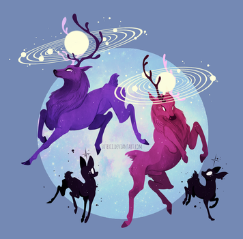 Solar Stags by Sutexii