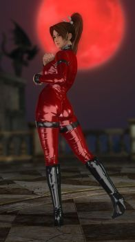 Mai Leather Catsuit Red 023 by DOA5lrScreenShots