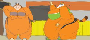Sticks and Marine Going Super Sized by Masked-Charizard