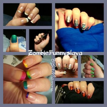 Nail designs by ZombieBunnySlaya