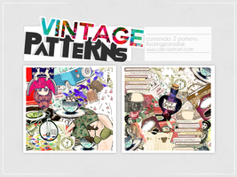 2 Vintage Patterns by iFuckingParadise