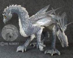 OOAK Water Dragon Art Doll by M-J-Albert