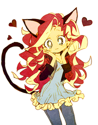 cat shimmer by memoneo