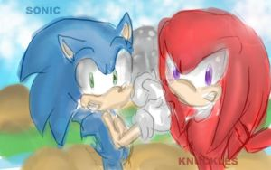 Sonic and Knuckles by little-x-flower