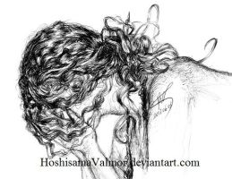 i talk too much - pen drawing by HoshisamaValmor