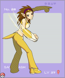 Gijinka Pokedex: Sandslash by Sacchi