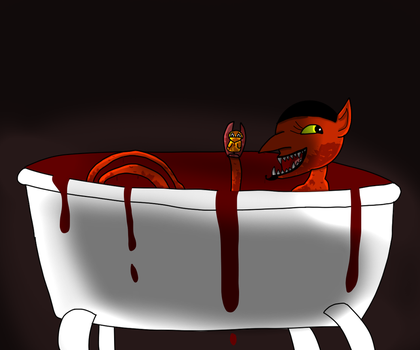 Goretober Day 10: Blood Bath by WolfyTheRuff