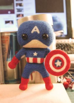Avengers - Mini!Captain America by cat-cat