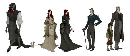 'Beauty And The Beast' Character Lineup by AbigailLarson