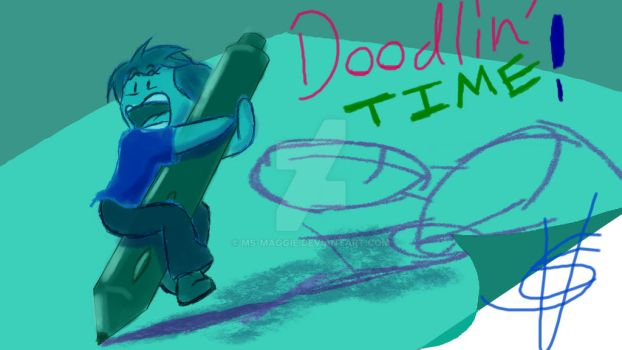 Doodlin Time' (YT Thumbnail) by Ms-Maggie