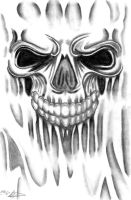 Skull Tattoo Sketch by Melski83