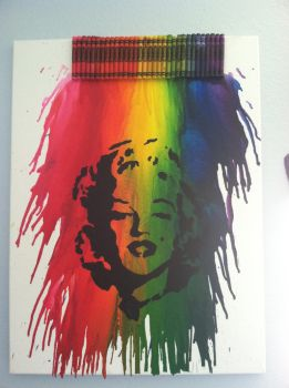 Melted Crayon Marilyn Monroe by damnafrica