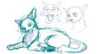 Cat Doodles by StarGazingHipster