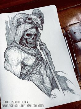 Skeletor Drawing by TentaclesandTeeth