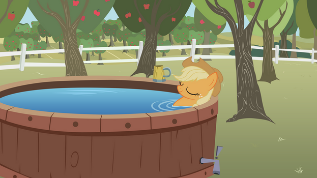 Applejack's Down Time by BonesWolbach