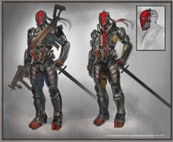 Deathstroke by Raggedy-Annedroid