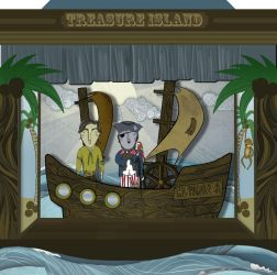 Treasure Island popup theatre by thesoulcanwait