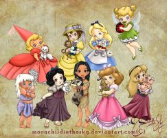 Children Princesses 2012 Collection by MoonchildinTheSky