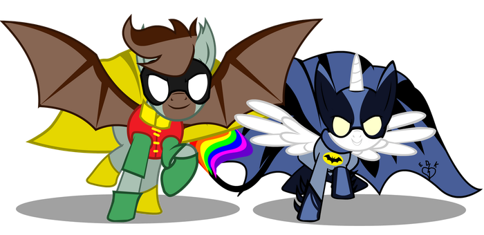 BatMare and Robin Stallion Commission by Lightning-Bliss