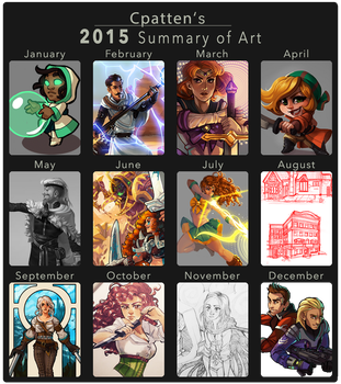 2015 Summary of Art by CPatten