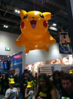 Inflatable Pikachu Balloon at Pokemon Stall by Collioni69